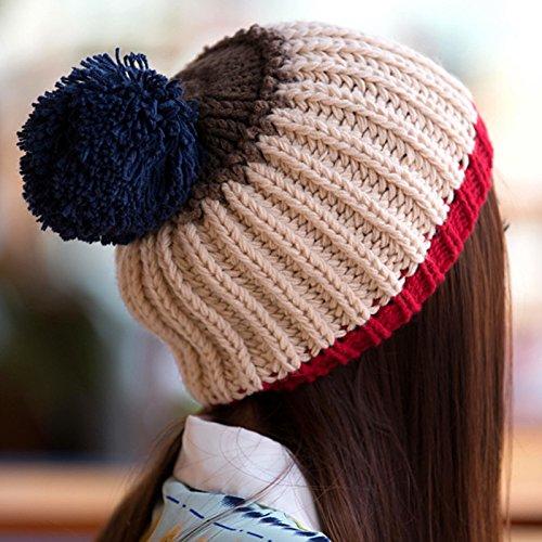 Lana Hecha otoño de Aire Libre LIGHTPINK Red e Hairball de Grande Plata Sombrero al Invierno Coreano Maozi en Invierno Hebilla qX0w7nq1