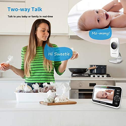 """51rfS ZIenL. AC - Video Baby Monitor With Camera And Audio, 5"""" Color LCD Screen, HelloBaby Monitor Camera, Infrared Night Vision, Temperature Display, Lullaby, Two Way Audio And VOX Mode"""