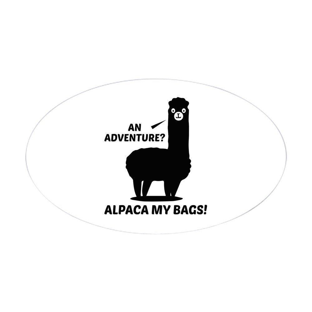 Amazon com cafepress alpaca my bags oval bumper sticker euro oval car decal automotive