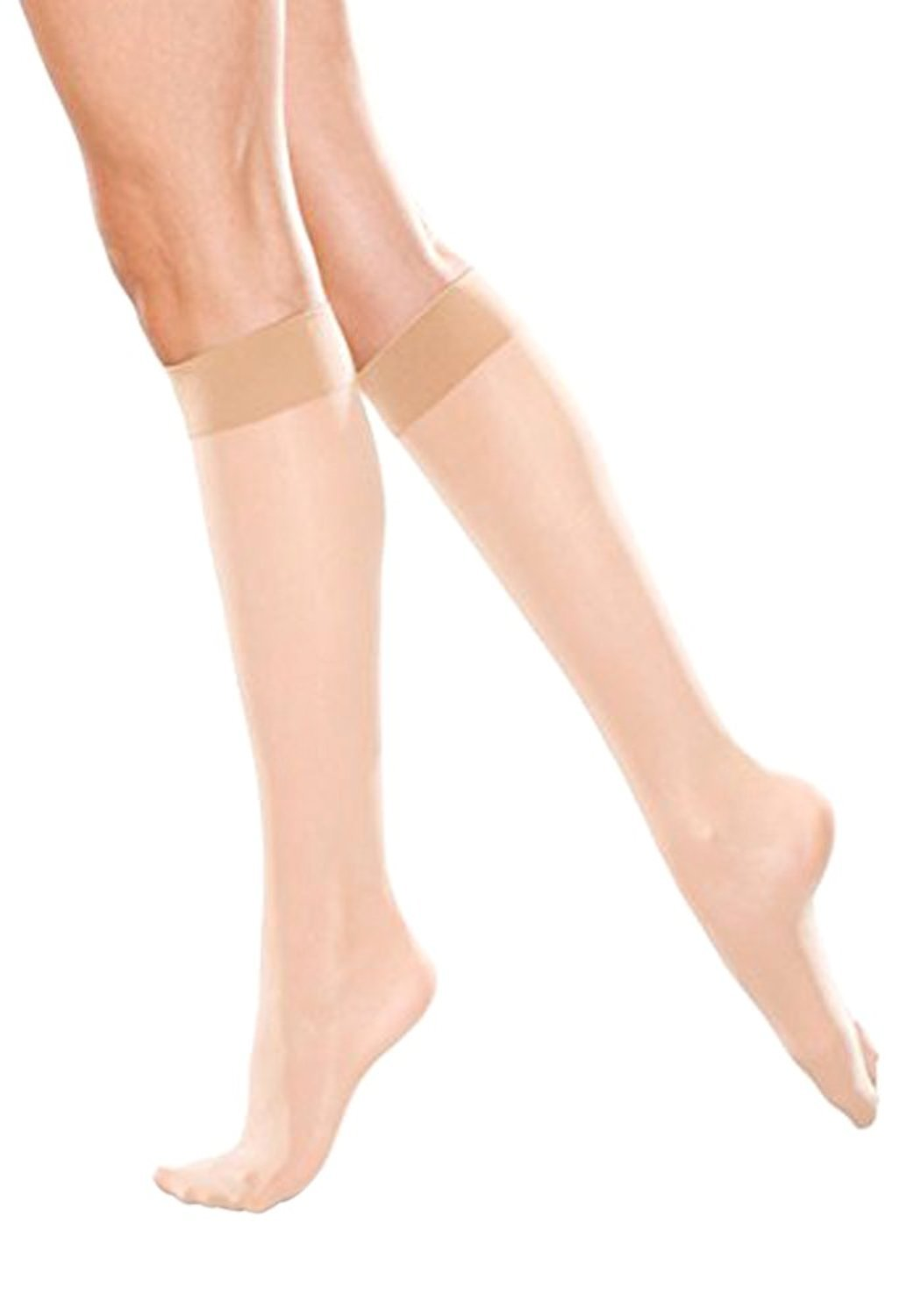 Therafirm Women's Sheer Knee Highs with Mild (15-20mmHg) Compression (Natural, Medium)