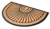 BirdRock Home 24 x 36 Half Round Natural Coir and Rubber Doormat | Natural Fibers | Outdoor Doormat | Keeps your Floors Clean | Decorative Design | Brush Coir