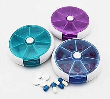 3 x Viaje Portable 7 ranura Medicina Vitamina Caja de pastillas Soporte Organizador Contenedor de konda