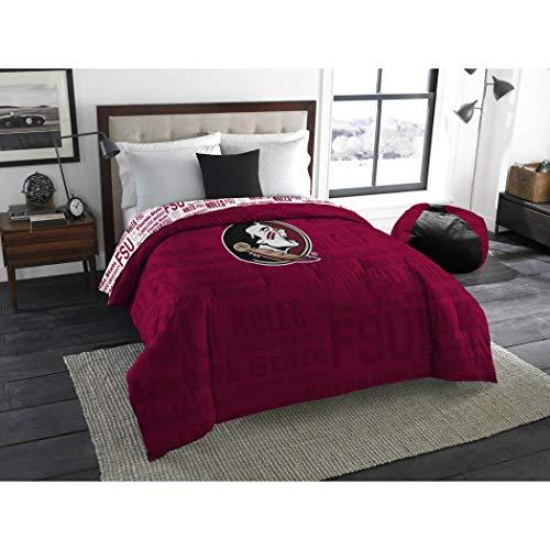 - 1pc NCAA Florida State University Seminoles Comforter Twin/Full, College Basket Ball Themed, Team Logo, Unisex, Fan Merchandise, Team Spirit, Sports Patterned Bedding, Red