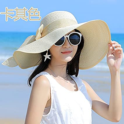 e4244a47d98 Amazon.com  The tide of Fashion Hat Visor sunshade face large along ...
