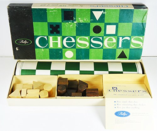 Vintage 1960 Chessers 2 Player Strategy Abstract Game by Phillips