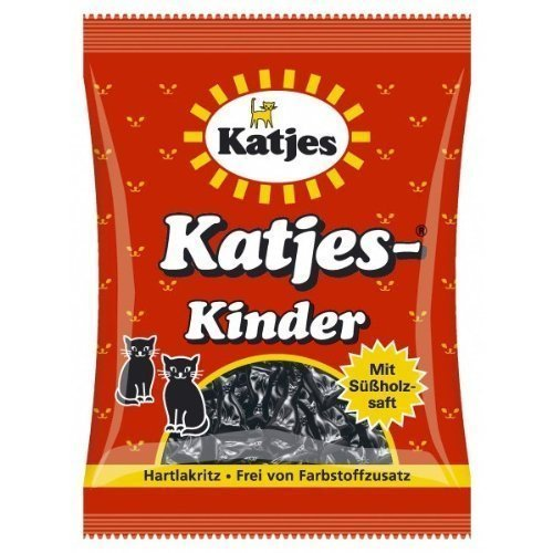 Katjes Kinder Licorice Cat-shaped Drops 200g Licorice Pieces (Pack of 6)