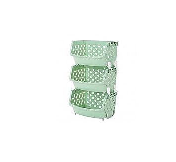 Yanw Shelf Kuchenregal Kunststoff Multifunktion 3 4 Etagen Geschirr