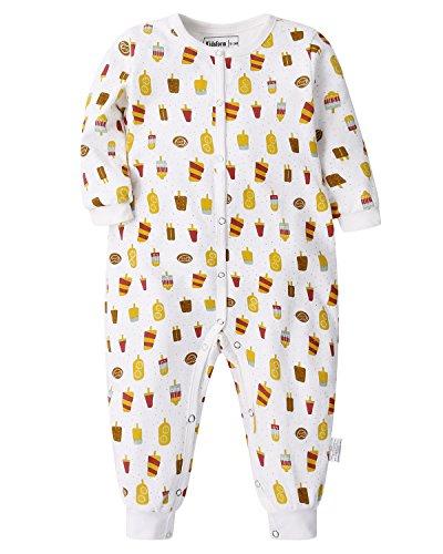 Kidsform Baby Cotton Romper Banana Pajamas Sleepwear Short/Long Sleeve Cartoon Print Jumpsuit Newborn Summer Outfits 3-24M