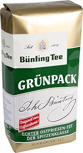 Bünting Tee Grünpack Echter Ostfriesentee 500 g lose, 5er Pack (5 x 500 g)