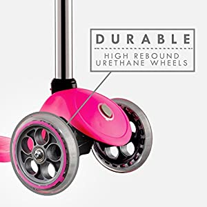 Globber 3 Wheel Fixed Scooter (Pink/Chrome)