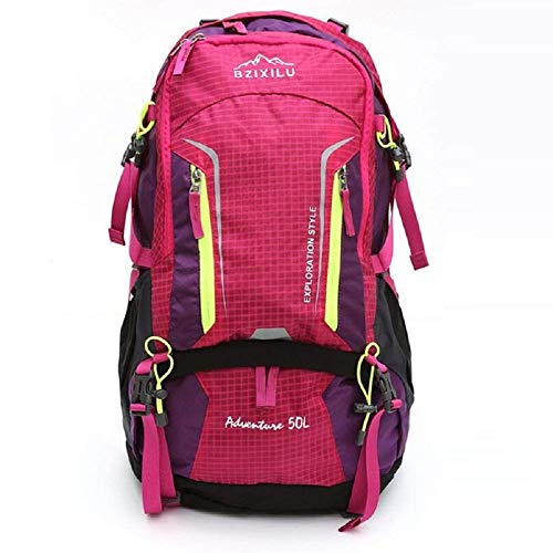 Yuany Outdoor Backpack Outdoor Mountaineering Bag Outdoor Travel Backpack, 50 Liter High Capacity Male and Female Common Backpack, with Rain Cover Adjustable Belt Backpack ()