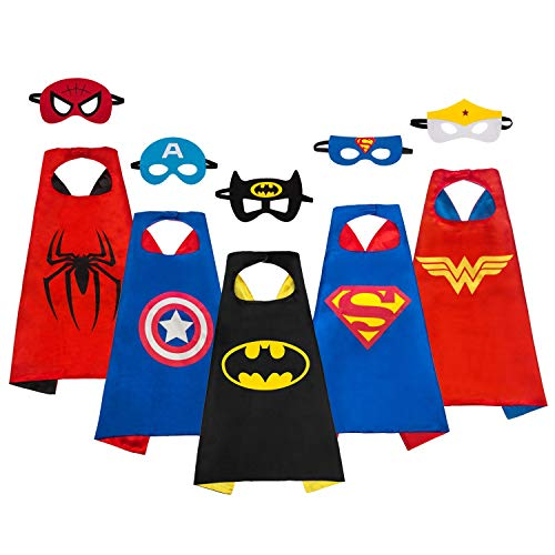 MIJOYEE Superhero Dress Up Costumes 5Pcs for Kids