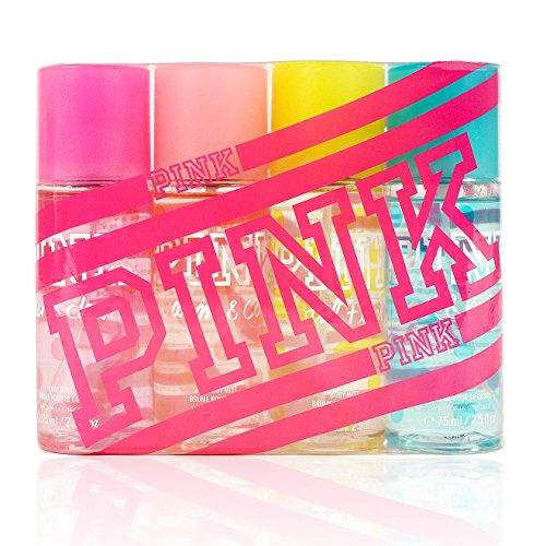 Victoria Secret Pink Perfume - Victoria Secret Pink Fragrance Mist Set Travel Size 4 Piece Featuring: Fresh and Clean, Warm and Cozy, Total Flirt, and Cool and Bright