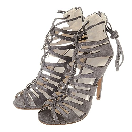 Peep Grey Donna Diva toe Miss 58xwqzSqI