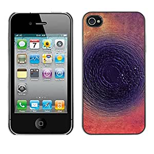 X-ray Impreso colorido protector duro espalda Funda piel de Shell para Apple iPhone 4 / iPhone 4S / 4S - Round Abstract Dark Ink