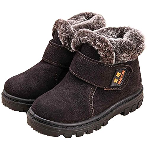 Clode® Winter Baby Kinder Art Baumwoll stiefel warme Schnee Aufladungen Kaffee