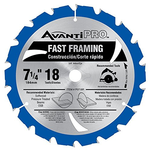 Avanti Pro 7-1/4 in. x 18 Tooth Fast-Framing Circular Saw Blade