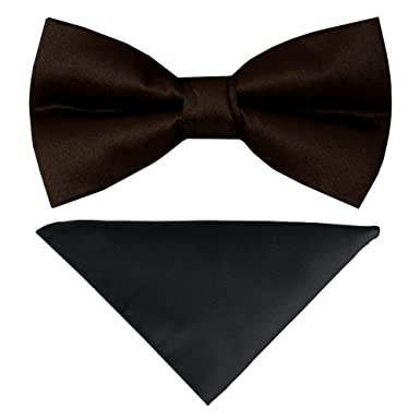 88fa66ee3d3b TIES R US Pre Tied Black Boys Bow Tie Age and Handkerchief Set Dickie Bow  Set: Amazon.co.uk: Clothing