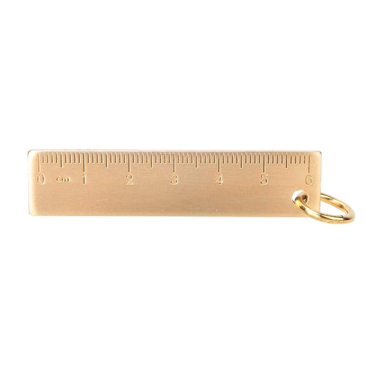 1 Colgante de 6 cm de Longitud y 3 mm de Grosor dise/ño de Regla de lat/ón con Cuero AYUN