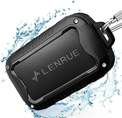 Waterproof Bluetooth Audio system V5.0,Moveable Wi-fi Speaker for Outside,10W,10H Playtime,for PC Pill Laptop computer Pc,All Andriod iPhone Cell Cellphone,Excellent for Climbing,Tenting,Cyclying Sports activities (BLACK)