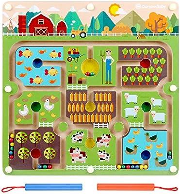 FunnyGoo Laberinto Cuadrado Laberinto Interactivo Granos magnéticos Juego de Mesa de Laberinto Juguetes artesanales - Granjero de la Granja: Amazon.es: Juguetes y juegos