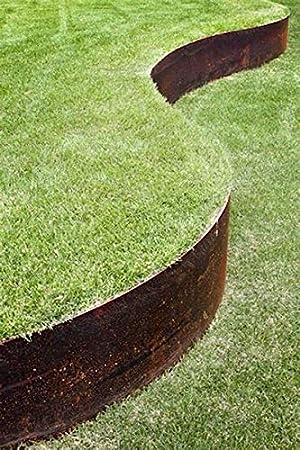 /Bordures de jardin en acier flexible 5/par lot Beaucoup de Couleurs Core Edge 100/mm visage/ couvertures lin/éaire /à 5/m/ètres lorsquil est connect/é.