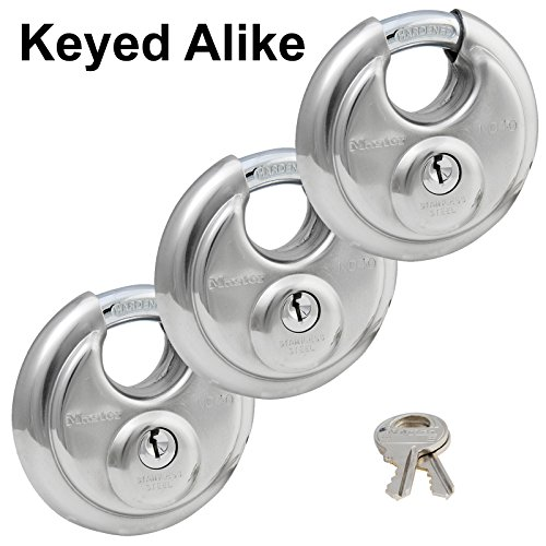 rouded Stainless Steel Disk Padlock with 2-3/4