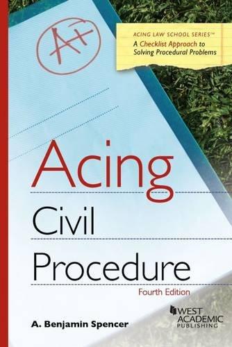 Acing Civil Procedure (Acing Series) cover