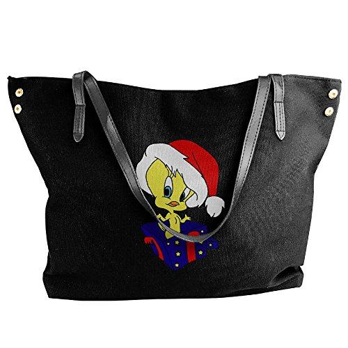 Tweety Bird Christmas Ladies Canvas Handle Single Shoulder Bag/Handbag - Bugs Bunny Witch Costume