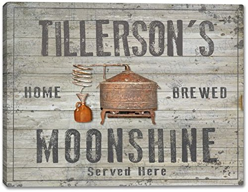 "TILLERSON'S Home Brewed Moonshine Canvas Print 24"" x 30"""