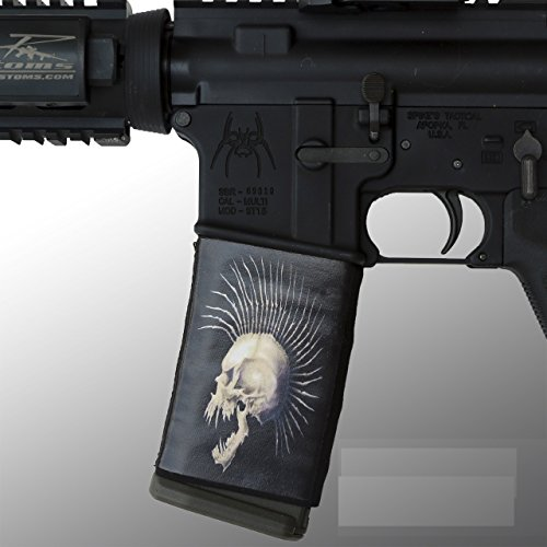 ultimate-arms-gear-ar-mag-cover-socs-for-30-40rd-polymer-pmag-mags-mohawk-skull-skeleton