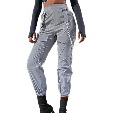 keephen Pantalones de Carga Reflectantes para Mujer Pantalones de ...