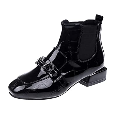 Amazon.com: Botas de tobillo para mujer, calientes, puntera ...