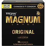 TROJAN Magnum Large Size Lubricated Latex Condoms, 36 Count