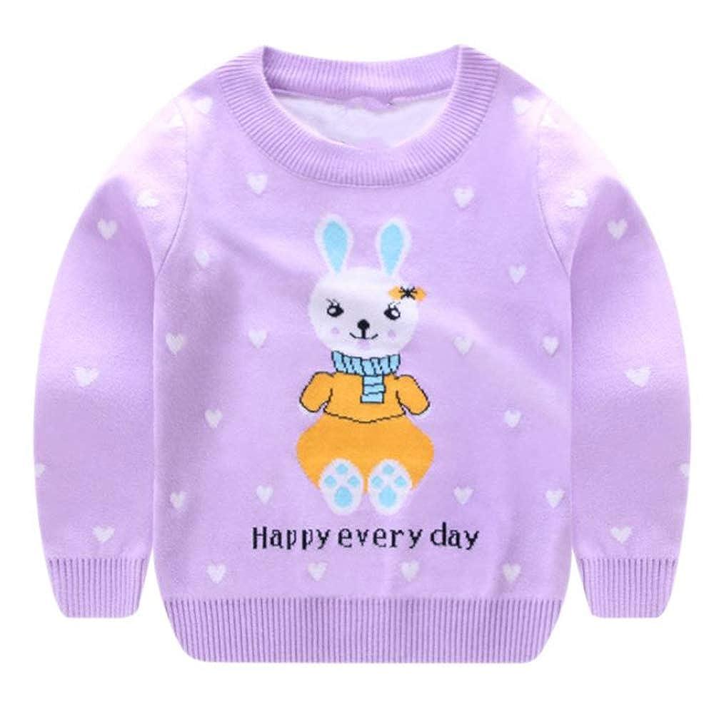 Fancyww Toddler Baby Boy Gir Knit Pullover Sweater Warm Sweatshirt