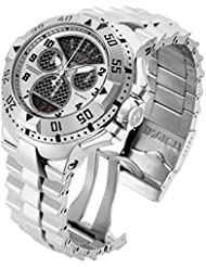 Invicta Mens Excursion Swiss Quartz Stainless Steel Casual Watch, Color:Silver-Toned (Model: 17468)