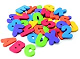 AMY Bath Toy 36pcs Soft Foam Letters Numbers