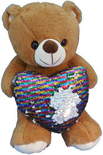 (RICH IDEAS Flip-dee-doo Teddy Bear with Rainbow Heart)