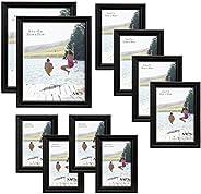 MCS Pacote com 10 molduras para quadros, conjunto econômico – dois 20 x 25 cm, quatro 12,7 x 17,7 cm, quatro 1