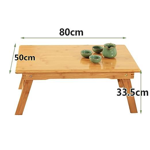 DFBF Mesas Laterales Mesa de Madera Plegable de bambú para ...