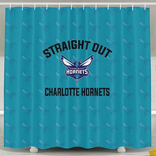 IWKULAD Charlotte Hornets Basketball Team Customized Shower Curtains