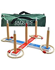 Jaques of London Quoits - Garden Quoits set or RING TOSS - Perfect for Garden Games and Garden Toys Outdoors Quoits Games - A Great garden Toys Garden Games and Toys Since 1795
