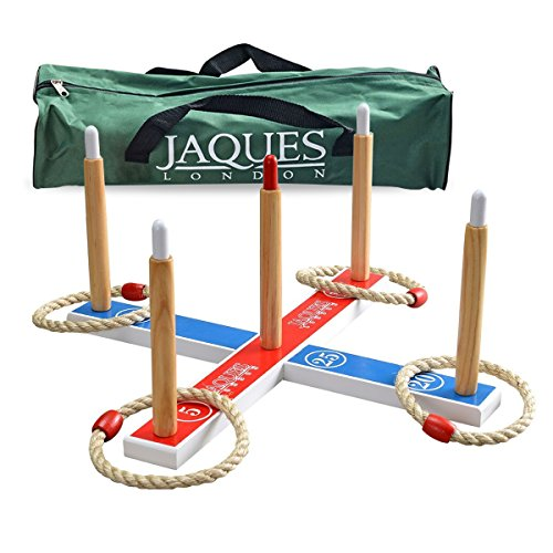 Jaques-of-London-Quoits-Garden-Quoits-set-or-RING-TOSS-Perfect-for-Garden-Games-and-Garden-Toys-Outdoors-Quoits-Games-A-Great-garden-Toys-Garden-Games-and-Toys-Since-1795