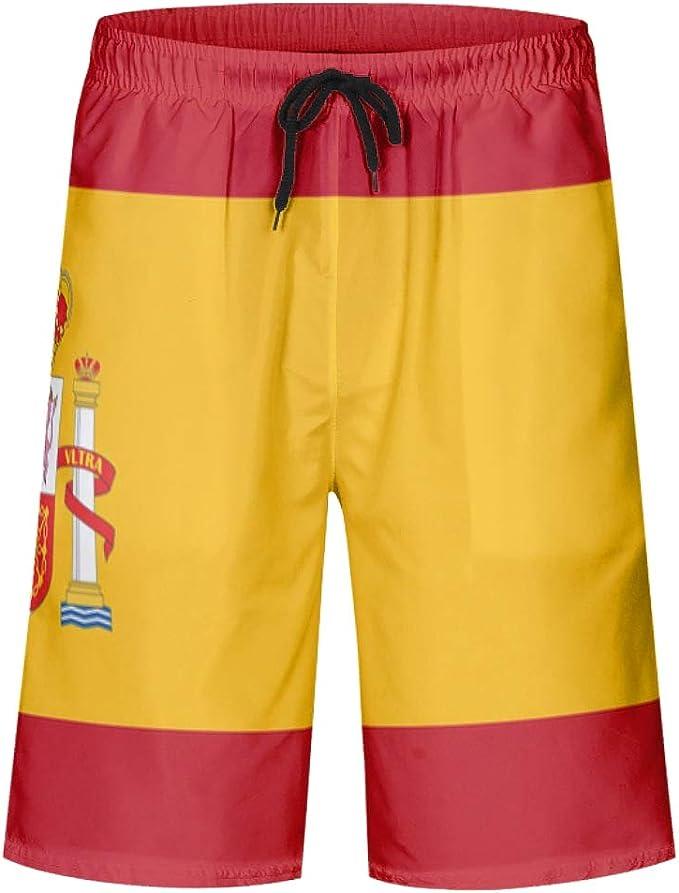 XJJ88 - Bañador para niño con Bolsillos, diseño de Bandera de España, Color Amarillo: Amazon.es: Ropa y accesorios