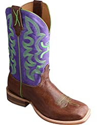 Twisted X Womens Hooey Purple Cowgirl Boot Square Toe - Why0005