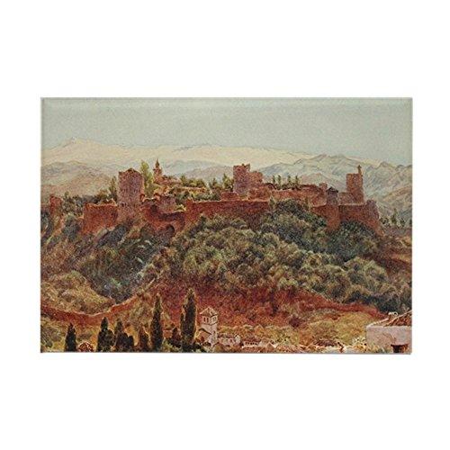 CafePress The Alhambra At Granada, Spain Rectangle Magnet, 2