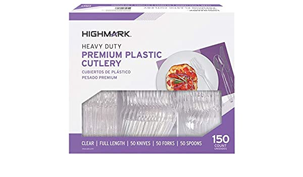 Amazon.com : Highmark Office Depot Full Length Utensils, Clear, Pack Of 150, 11595 : Kitchen Utility Knives : Office Products