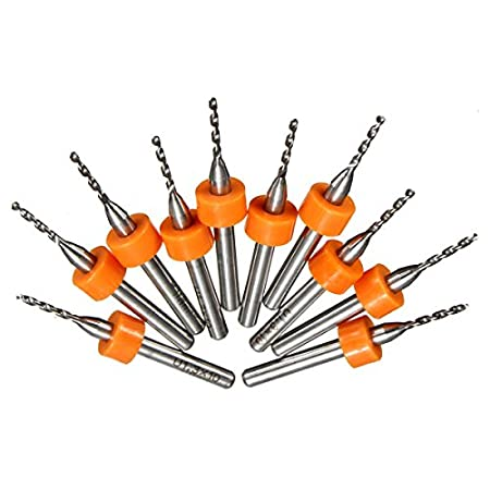 10pcs 1.3mm Solid Carbide PCB Print Circuit Board Drill Bit CNC Mini Drill Bits