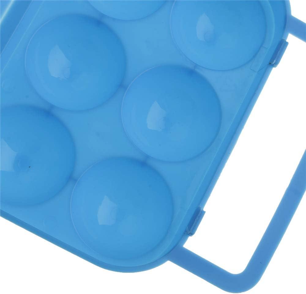 Hunt Gold Protable Eggs Holder Camping Hiking Plastic 6 Grid Egg Storage Holder Container Box Case-Orange