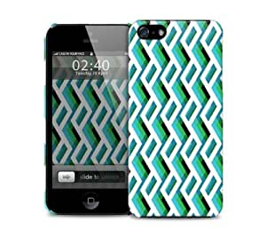 Green zigzag iPhone 5 / 5S protective case